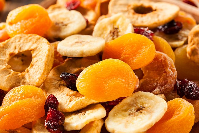 "Most dried fruits have sulfites, unless specifically stating that they are ""sulfite free"""
