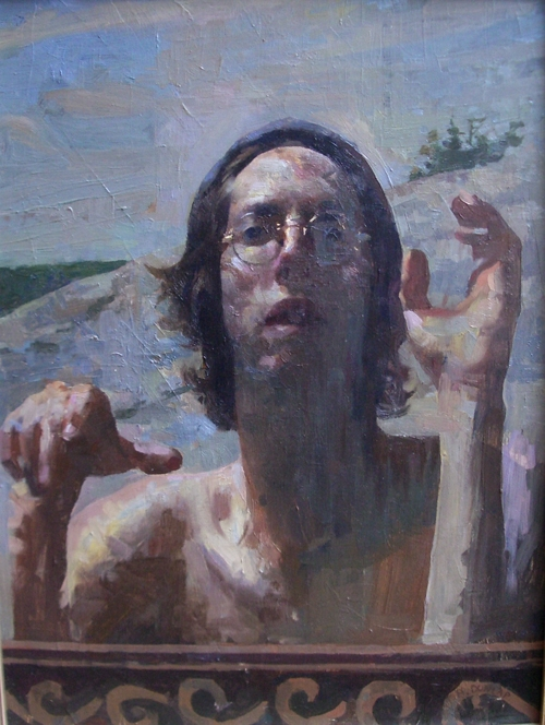 Born in 1977 in Northern Vermont, Hollis Dunlap began painting with oils at age 14, at first experimenting with still life and painting various subjects from imagination.  Encouraged by his high school art teacher, he began taking private oil painting lessons, and began studying the figure as well as painting landscapes. During these years he augmented his school art classes with after-school figure drawing programs, developing his familiarity with the human form.  At the same time he began to study the old masters extensively, copying many master drawings and paintings in an attempt to absorb some of the spirit of their work, as well as more specific technical lessons to be gained from these artists. In 1995 he went on to study at the Lyme Academy College of Fine Arts, where he received extensive training over the course of four years. During this time he was influenced by many painters of various styles, discovering more modern methods of applying paint and emphasizing strong aspects of design in his compositions. He was the first painter to be awarded first prize at New York's National Arts Club student exhibition two years in a row, as well as receiving the Academy's John Stobart Fellowship, awarded each year to a graduating student in recognition of outstanding work. Hollis is a two time recipient of the Elizabeth Greenshields Foundation grant as well.  In the winter of 2001, he studied at the National College of Art and Design in Dublin, painting the figure in the interior space and furthering his understanding of dynamic light effects. Since then he has had numerous solo shows in Vermont, Connecticut, New York, Boston, Florida, and San Francisco, and currently paints the figure at his studio in Southeastern CT.