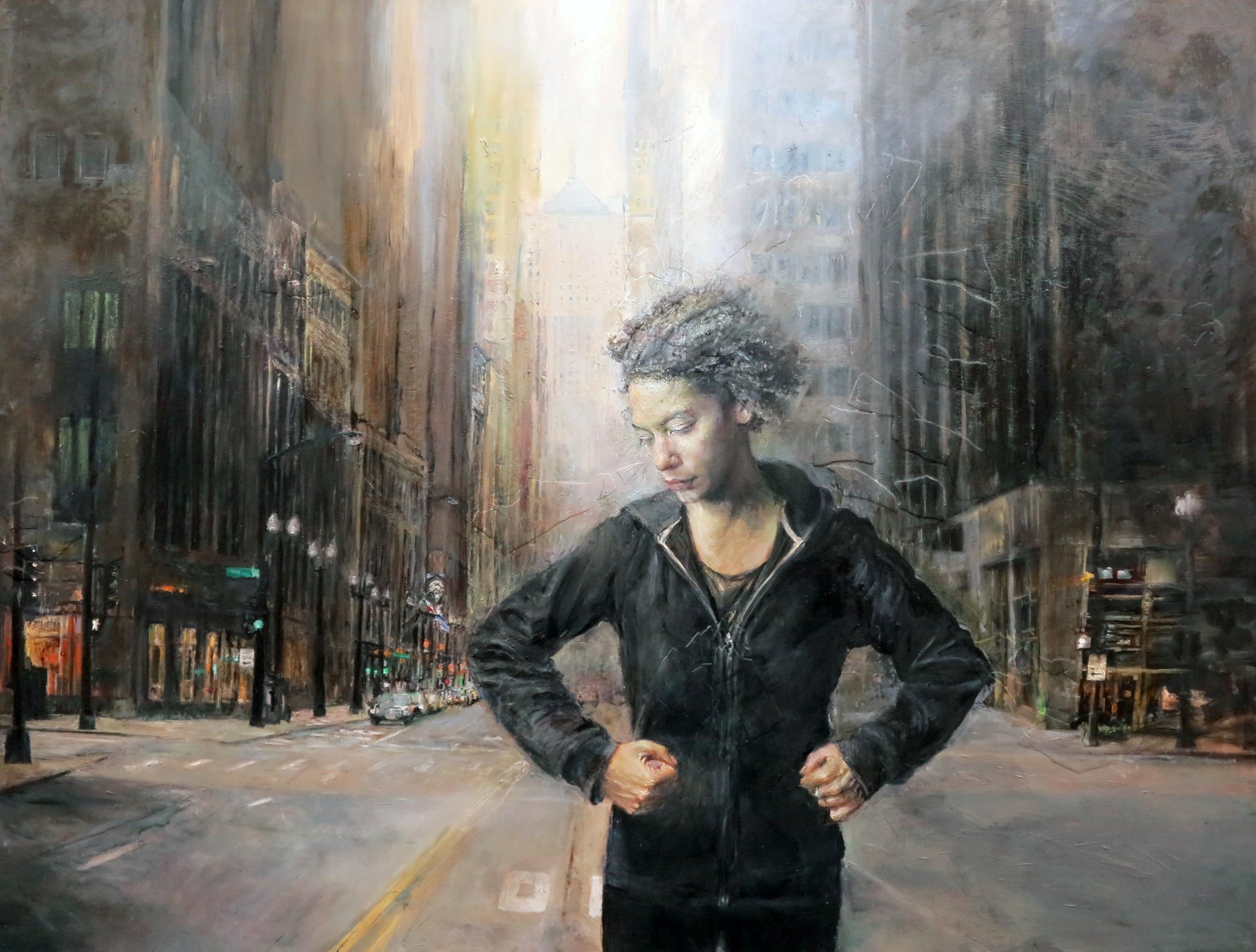 Urban Dream  |oil and plaster on board |36x48
