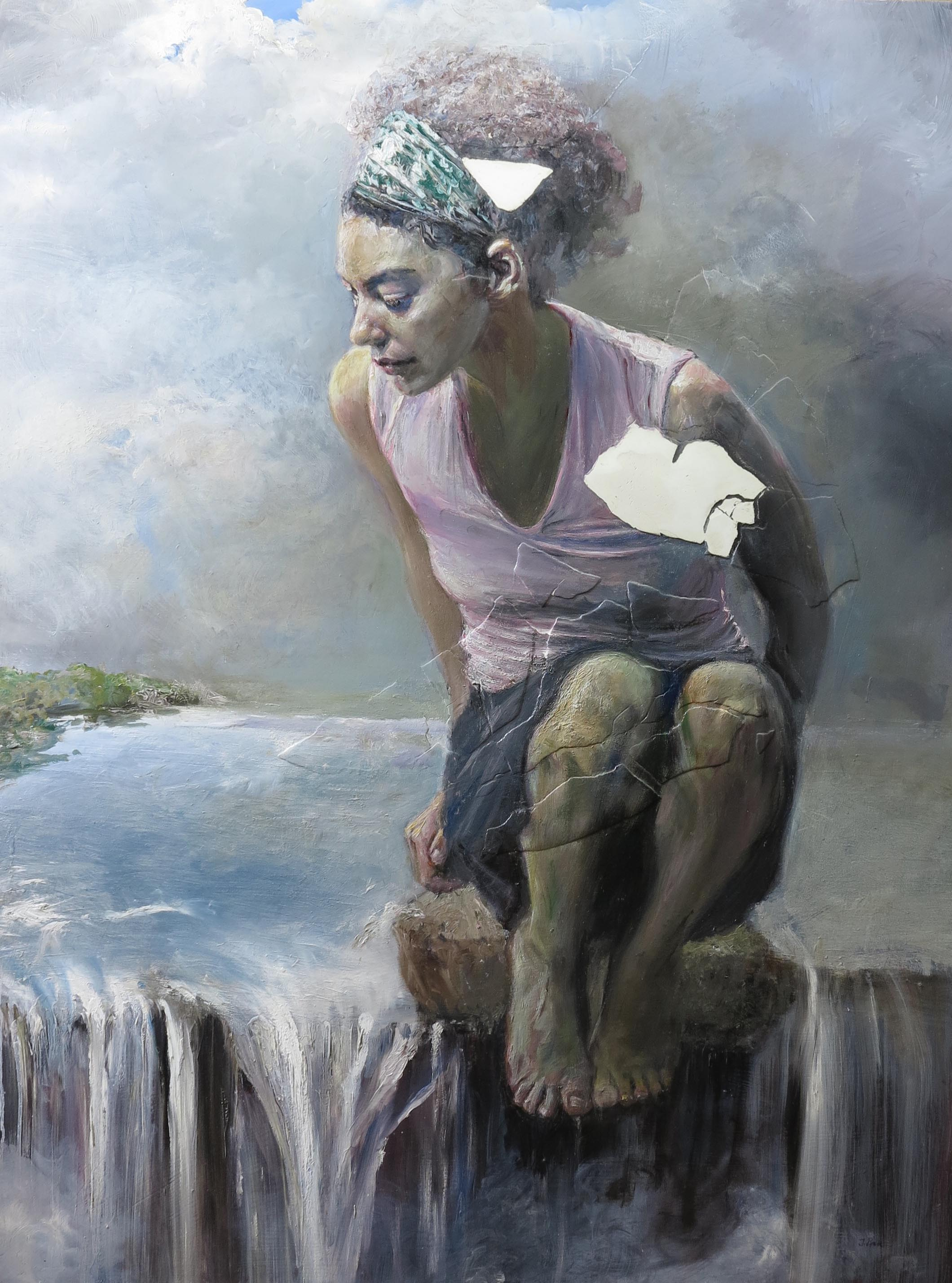 Memory's Reflection  |oil and plaster on board |40x30