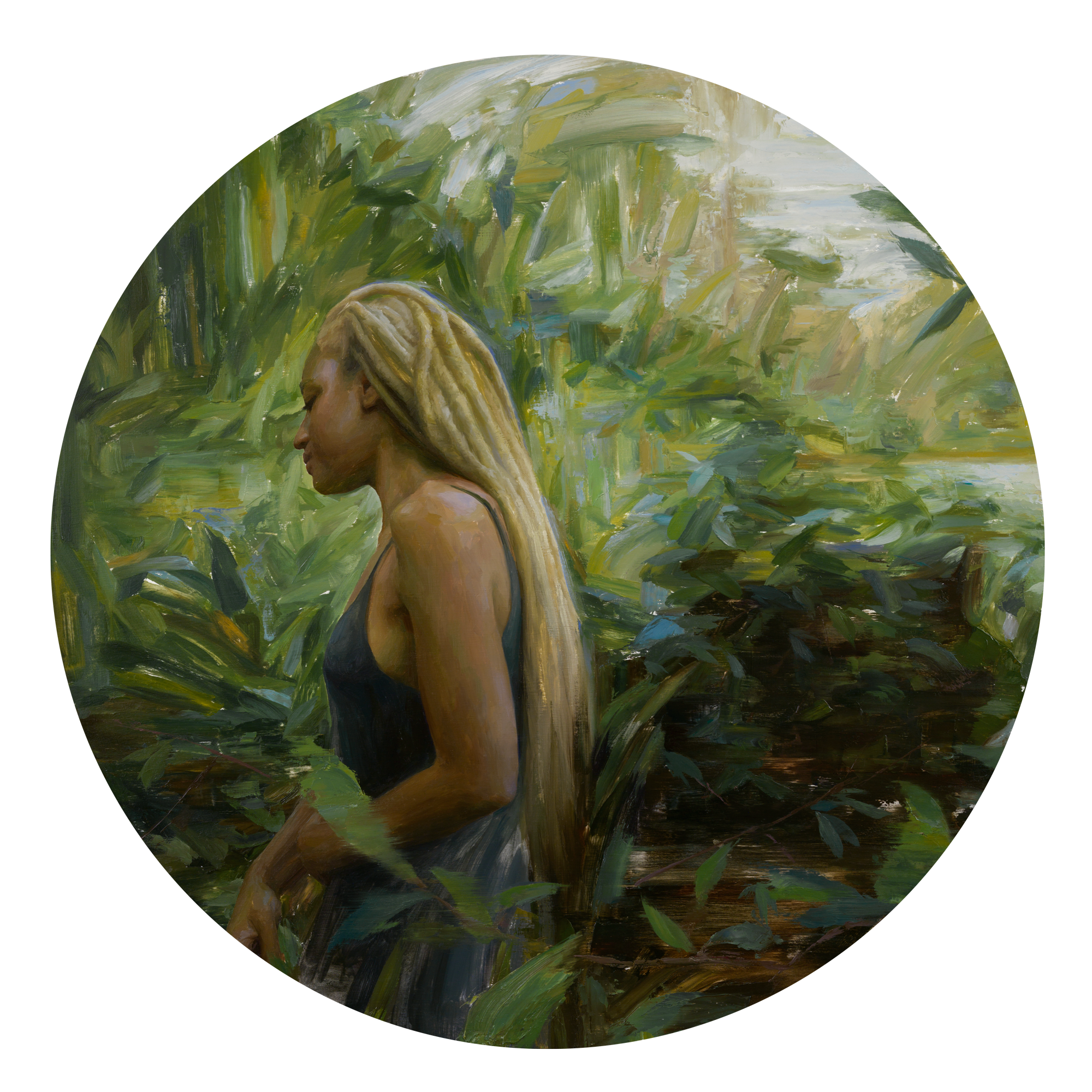 Irvin Rodriguez | Untitled | Oil on Panel | Ø 30 inches or 76 cm