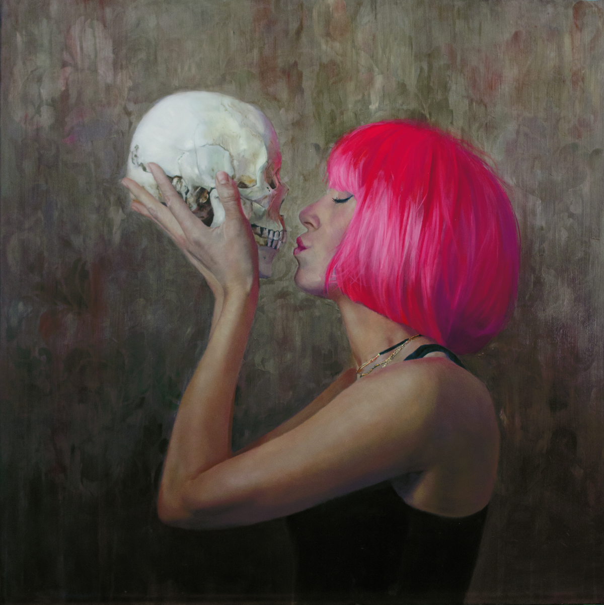 Shana Levenson | Death and the Maiden | oil on disband | 30x30