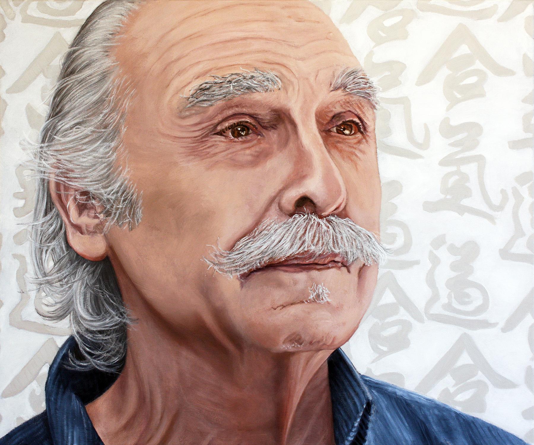 Portrait of Larry Aarons | oil on canvas | 20x24 | 2017