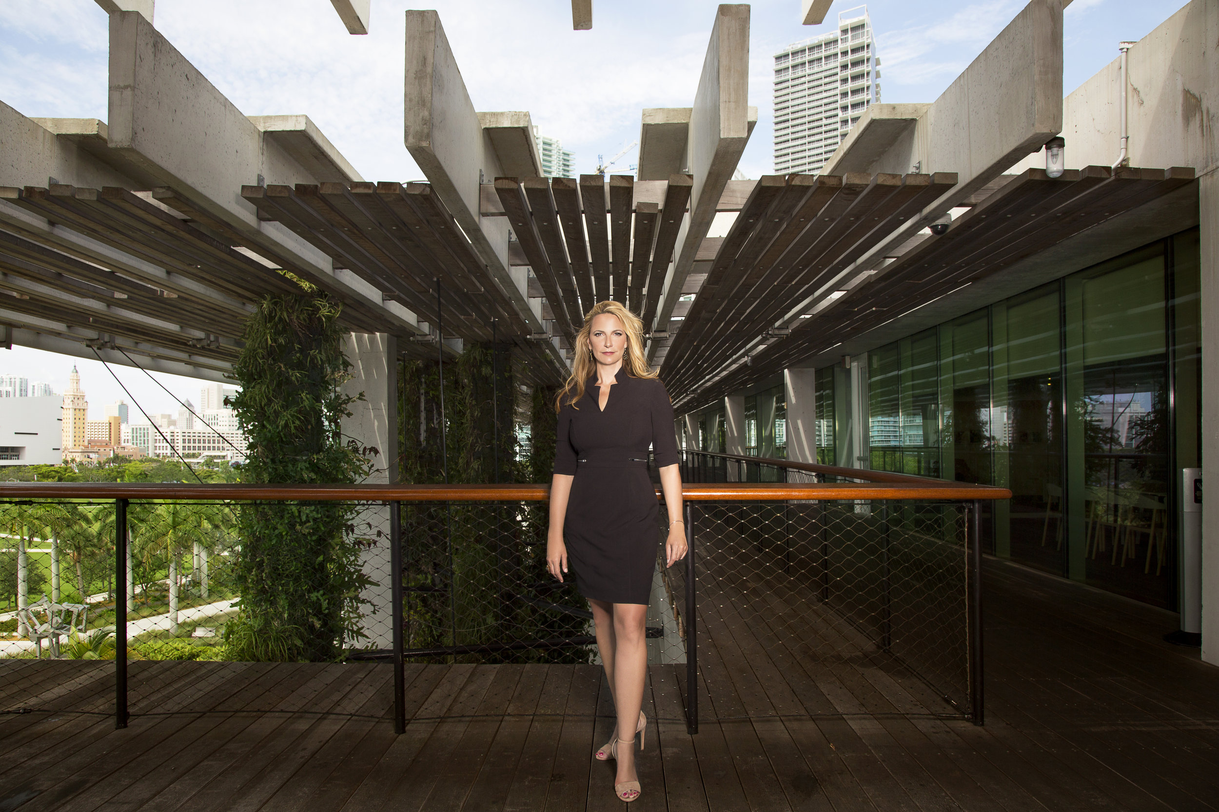Christina standing at the Perez Art Museum in Miami, June 2017. Photography by Natasha Kertes.  Full issue available as a print-on-demand or PDF.