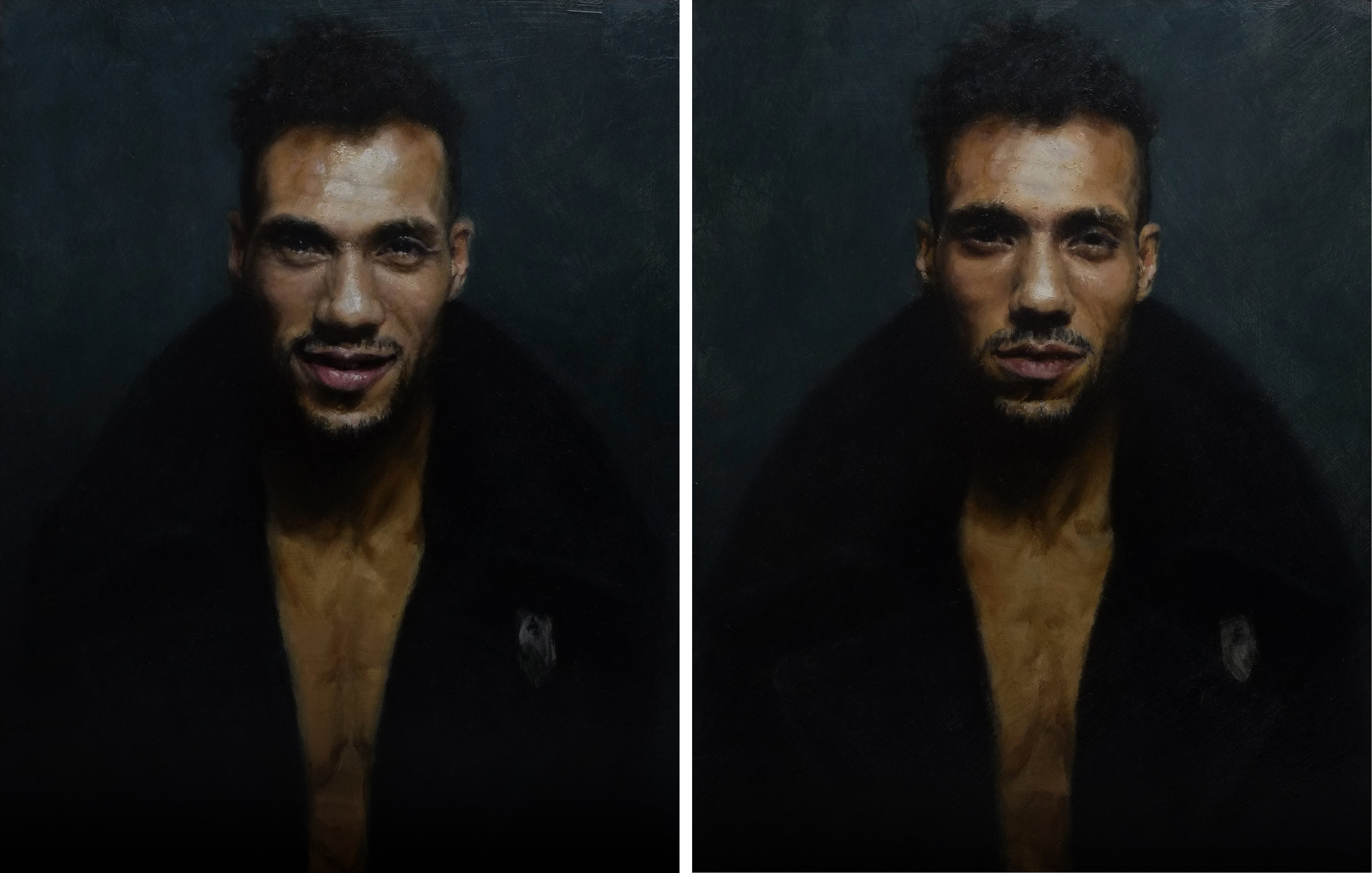 Alessandro Tomassetti  |  I Know It's Over 1 & 2  | Oil on Aluminum | 14 x 11 inches each or 35 ½ x 28 cm each