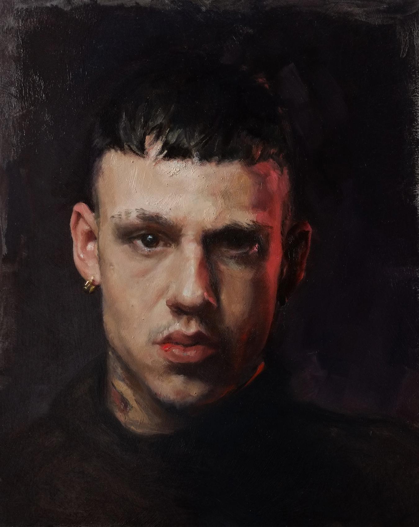 Alessandro Tomassetti  |  Still Ill  | Oil on Aluminum | 14 x 11 inches or 35 ½ x 28 cm