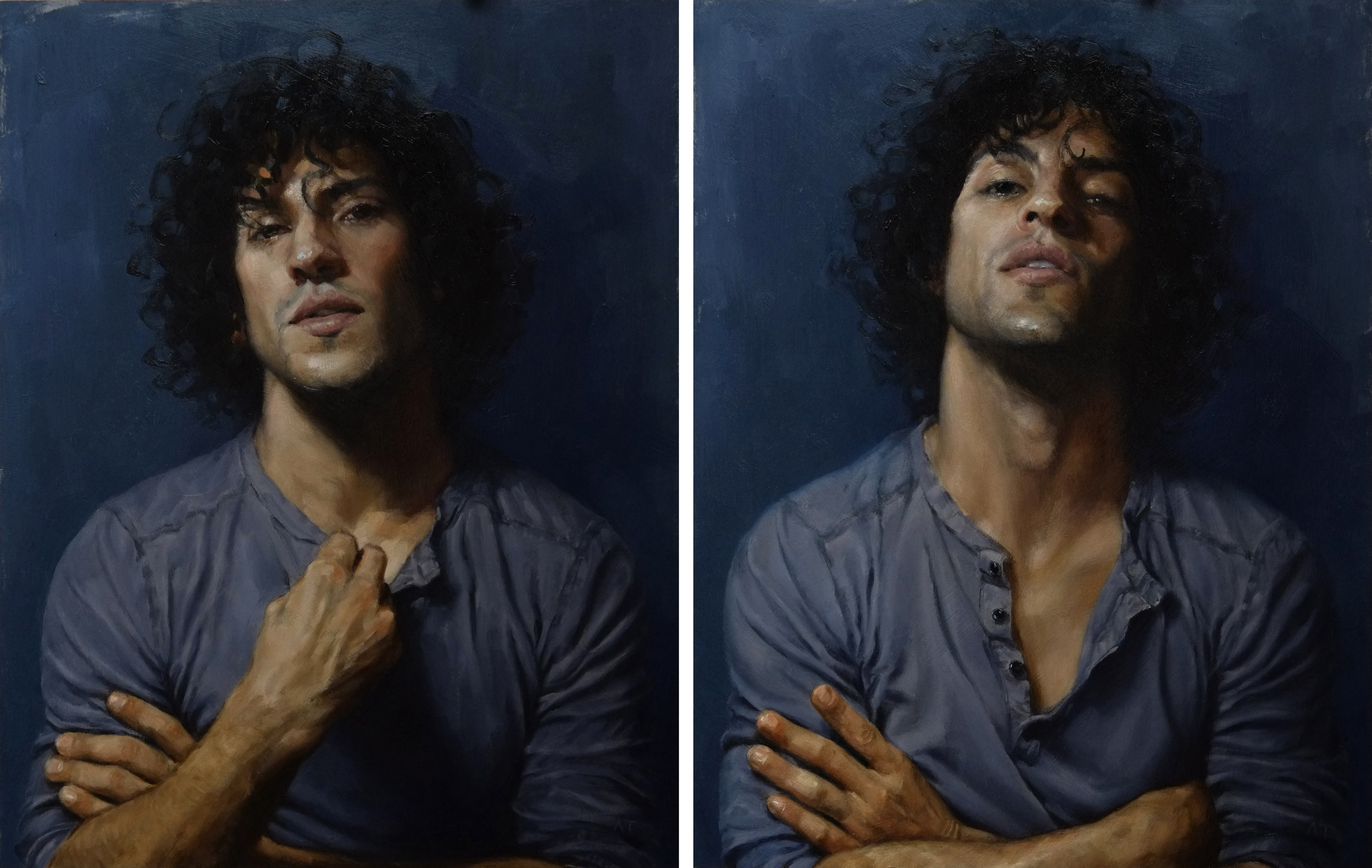 Alessandro Tomassetti  |  What She Said 1 & 2  | Oil on Aluminum | 14 x 11 inches or 35 ½ x 28 cm each