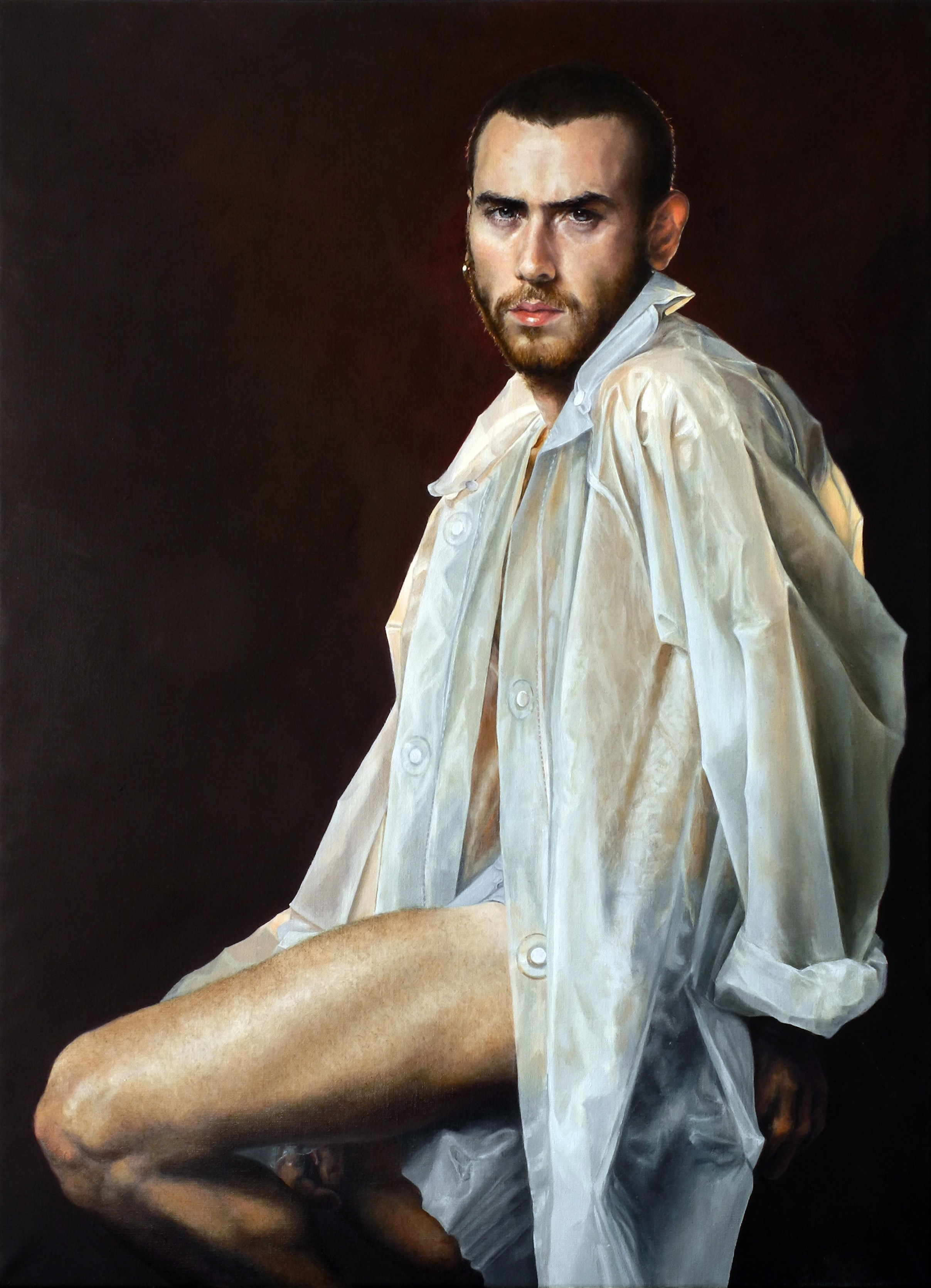 Alessandro Tomassetti  |  My Insatiable One  | Oil on Linen | 39 ½ x 28 ¾ inches or 100 ½ x 73 cm