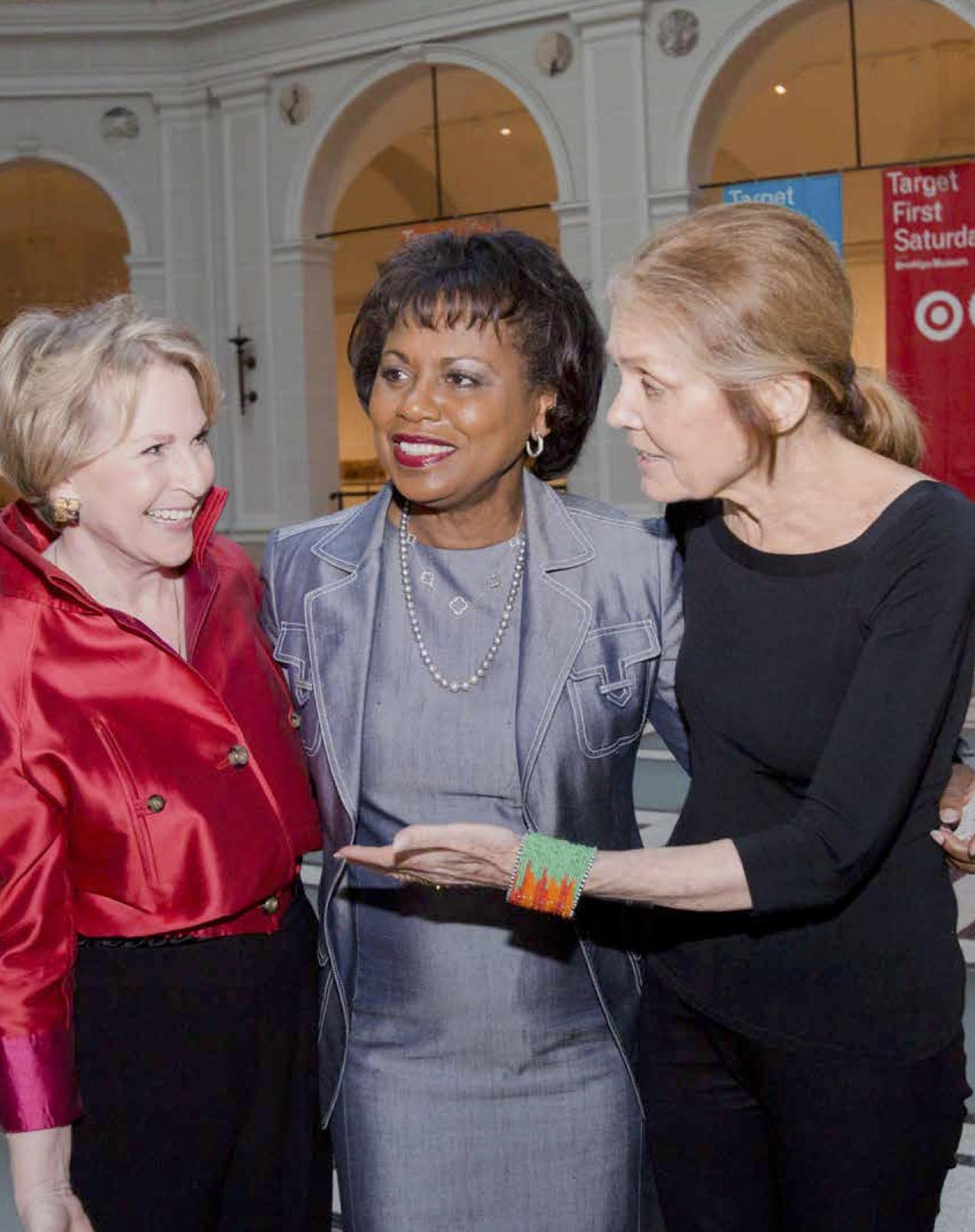 Elizabeth Sackler, Anita Hill, Gloria Steinem