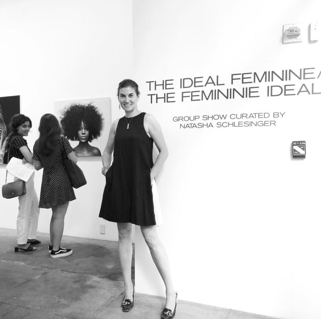 Natasha at the opening of     The Ideal Feminine, The Feminine Ideal?     at    Winston Wachter Fine Art     photo credit    Tanya Malott