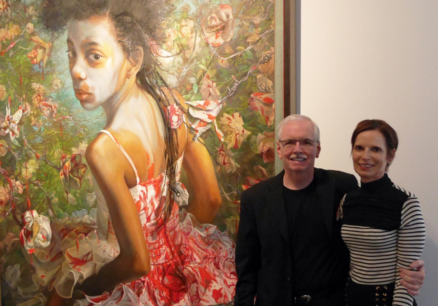 Dr. Elaine Melotti Schmidt (right) and Steven Allen Bennett