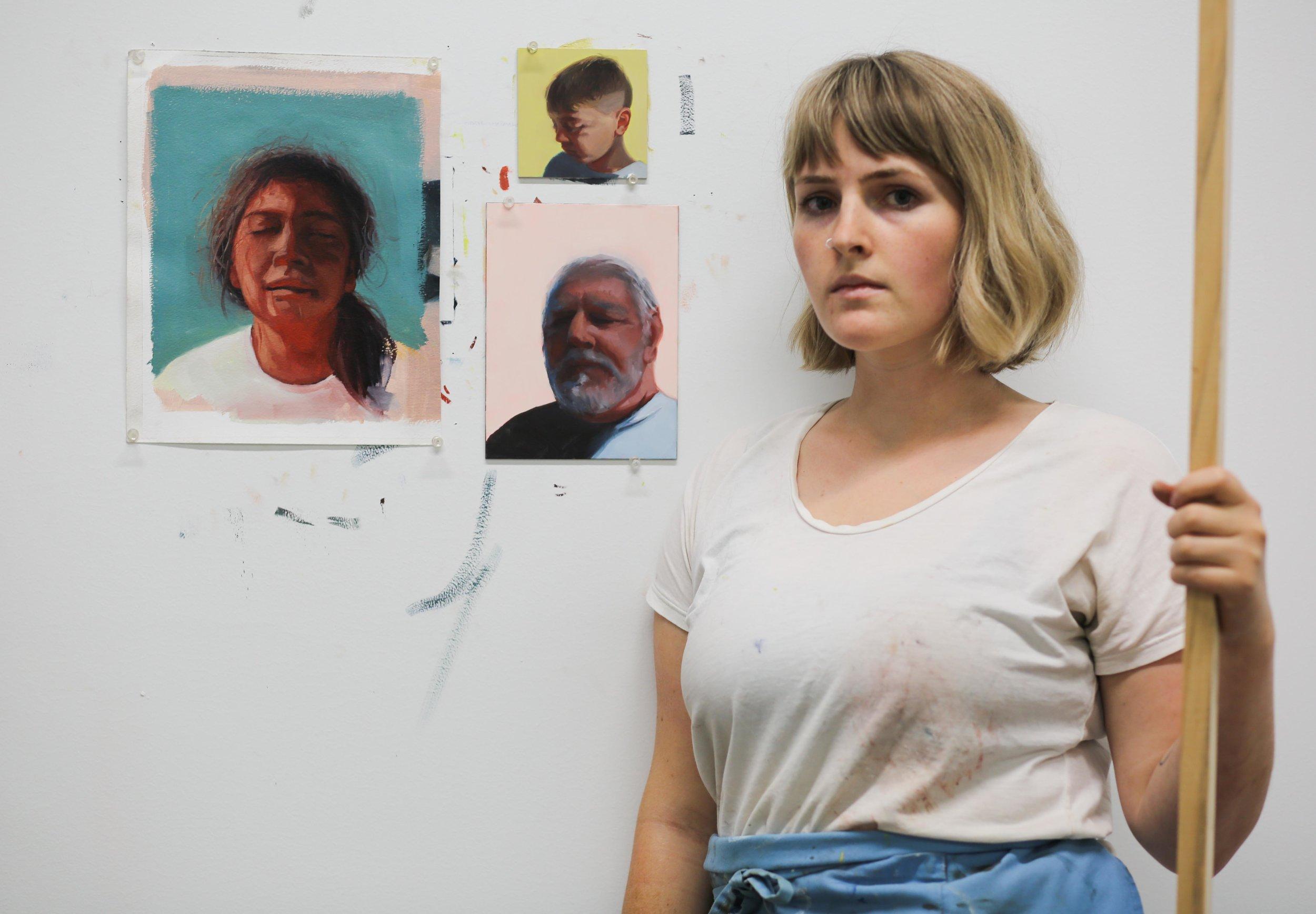 Nicole Williford  in the Studio