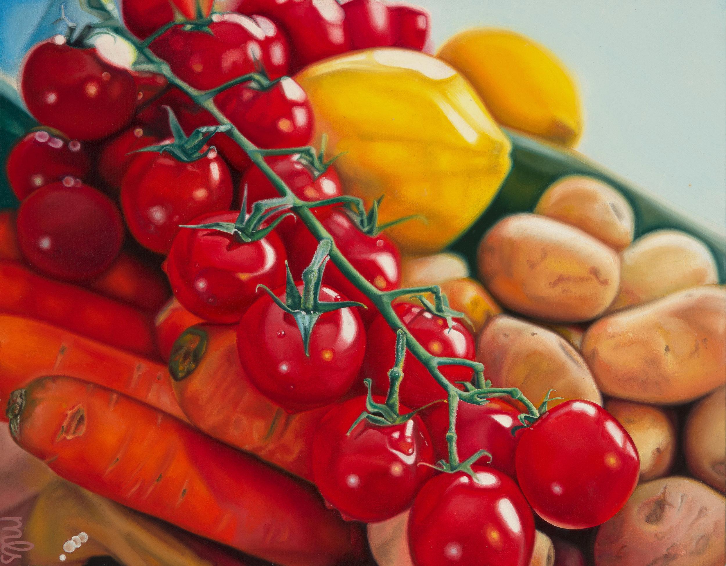 "Fresh Legumes  | oil on canvas | 14"" × 18"" | 2018"