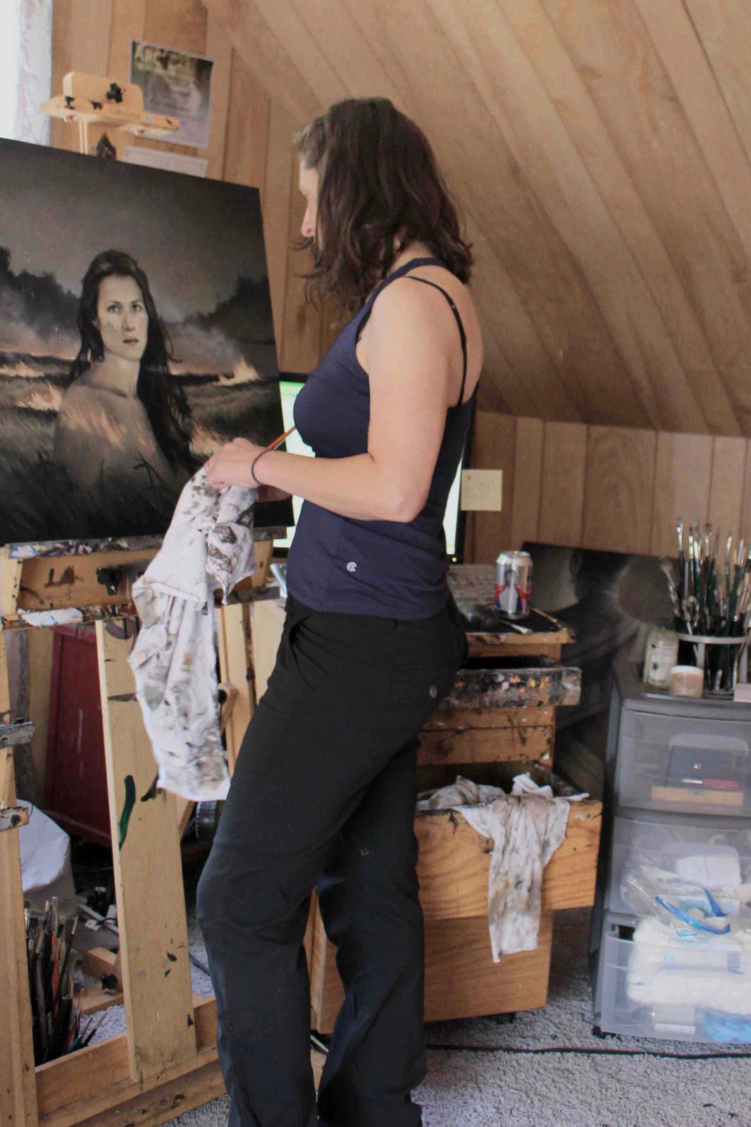 Mary Chiaramonte in the studio