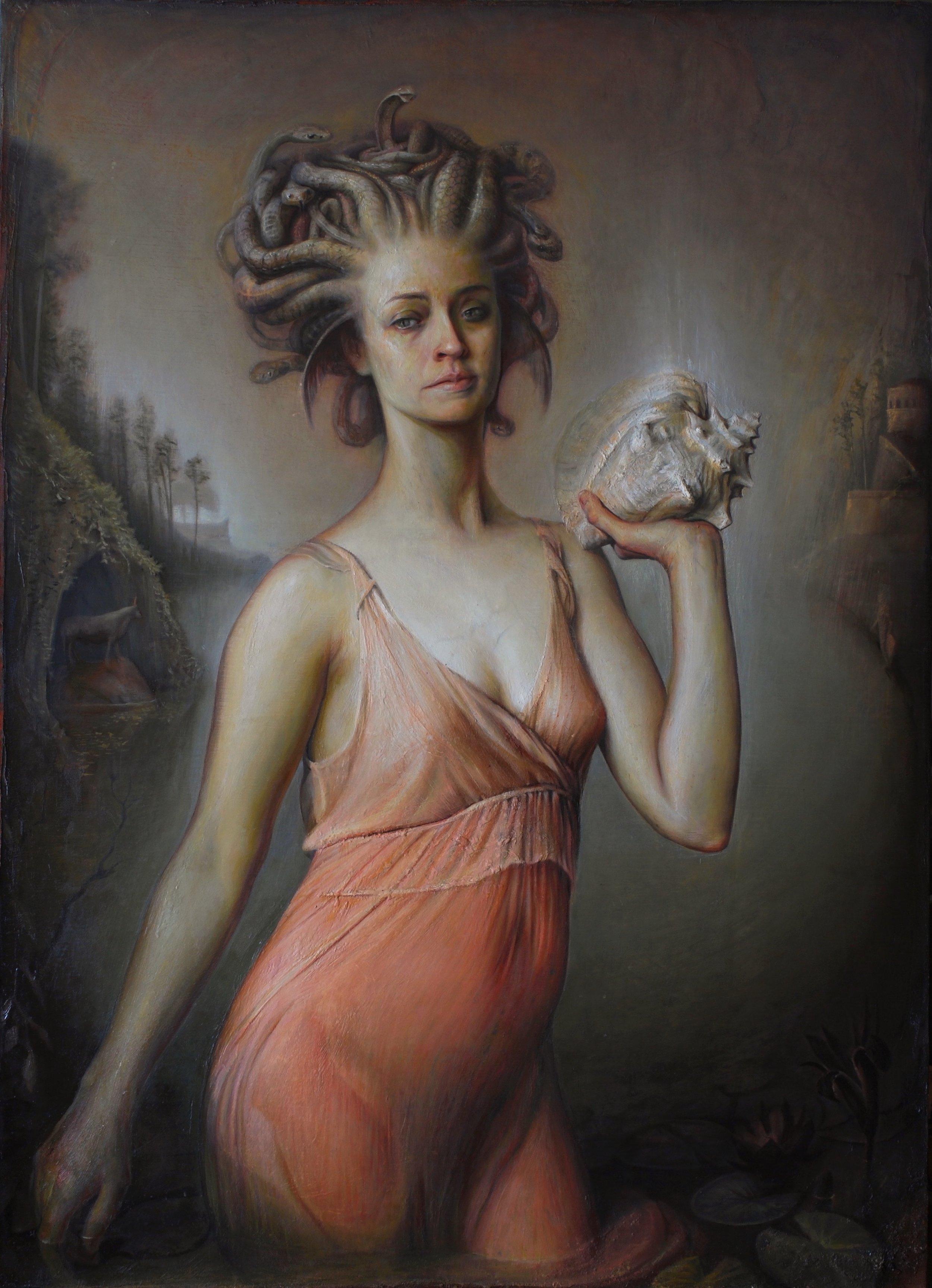 Luke Hillestad | Medusa | oil on canvas