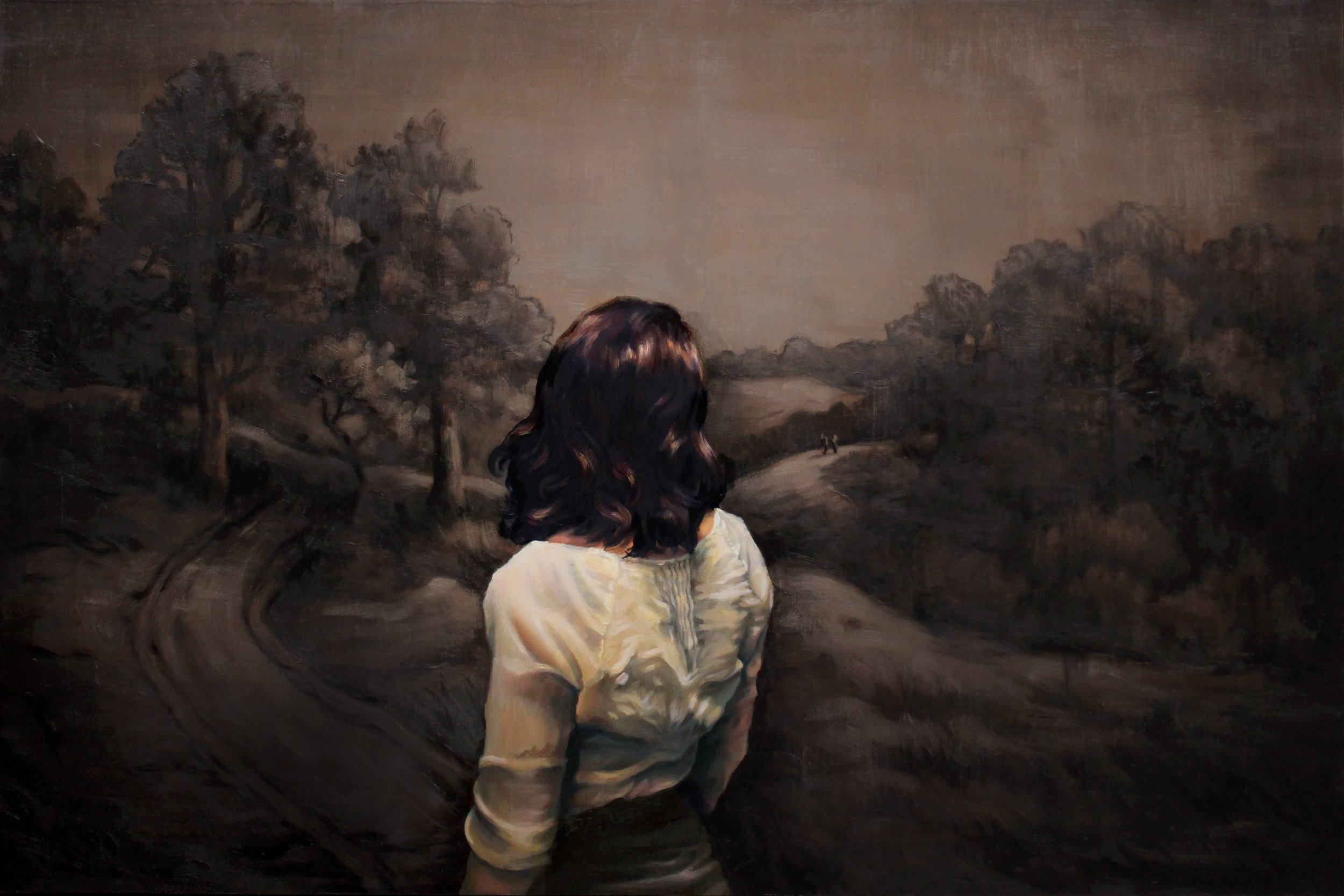 Mary Chiaramonte |  Far From Any Road (I watched you)  | Oil on panel | 20x30 inches | 2019
