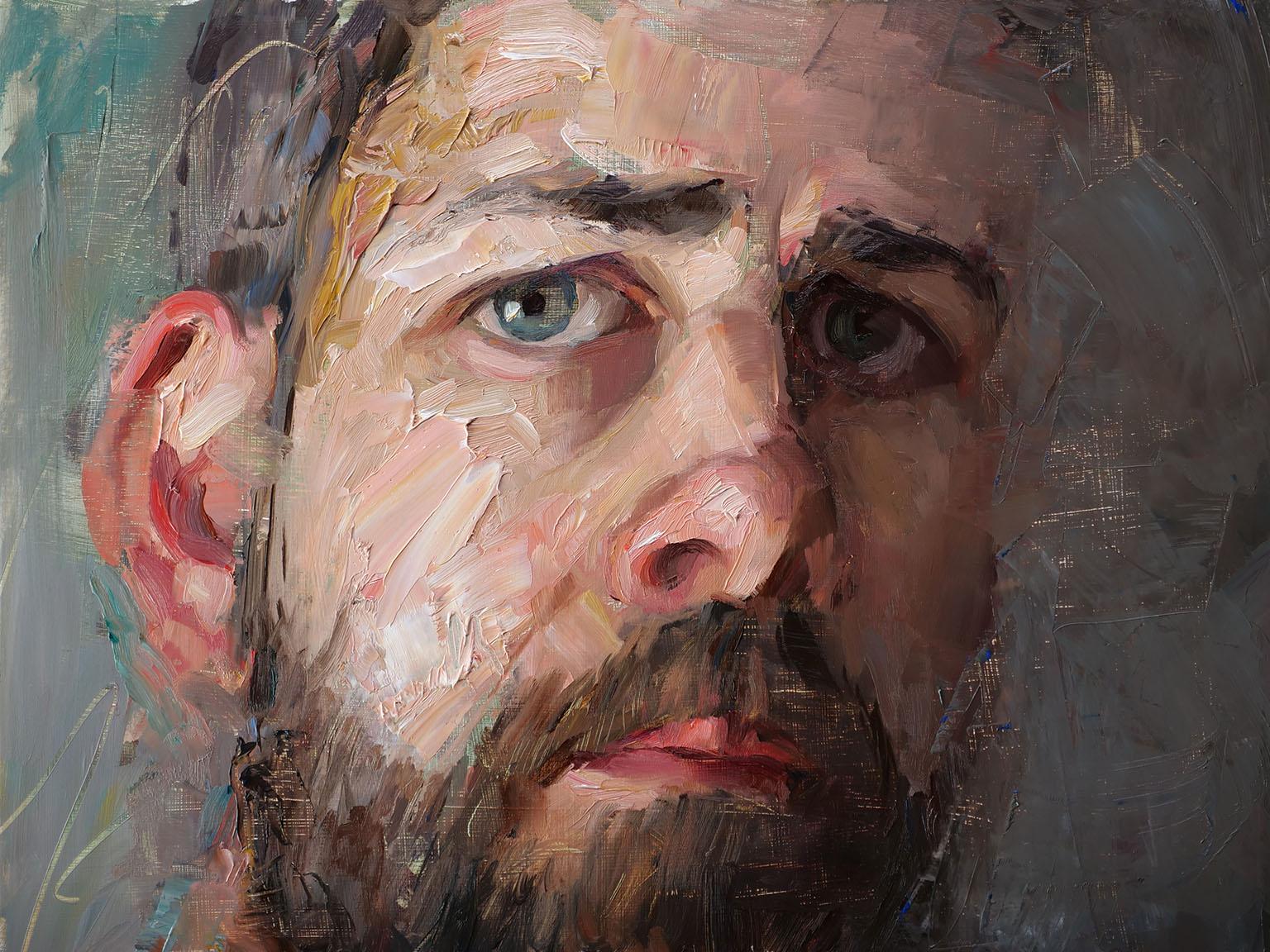 Matt Talbert |  Self Portrait  | oil on panel | 12x16 inches | 2018
