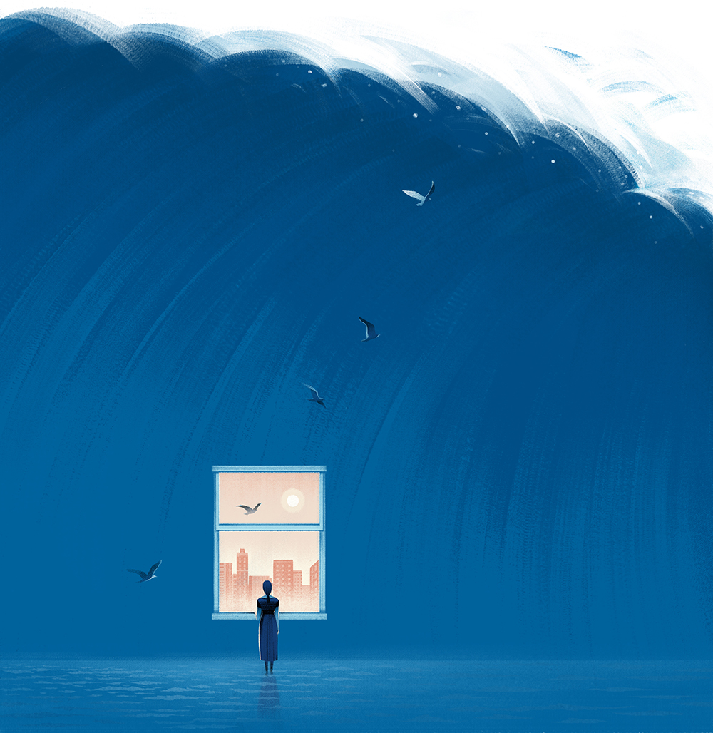 The Sound of Silence |AD: Matt Dorfman  Cover illustration for a   Book review  of  My Name Is Lucy Barton .