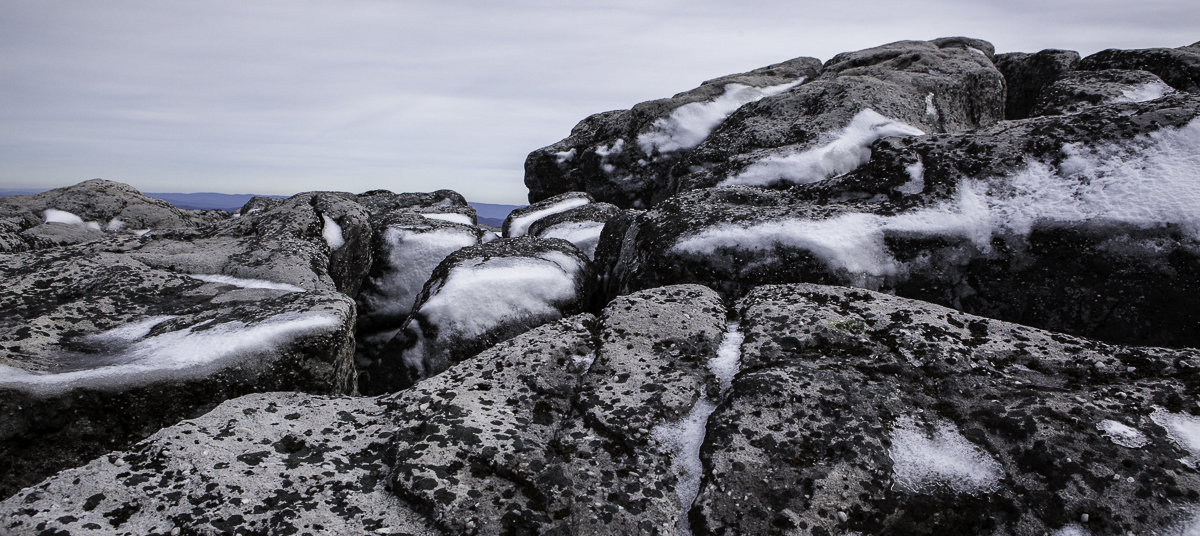 Snow on Rock in Dolly Sods