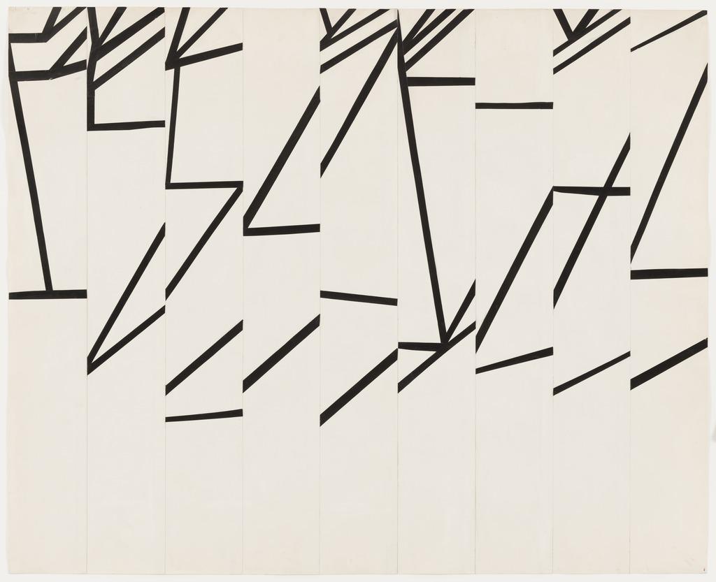 ELLSWORTH KELLY,  Study for La Combe II  , 1950