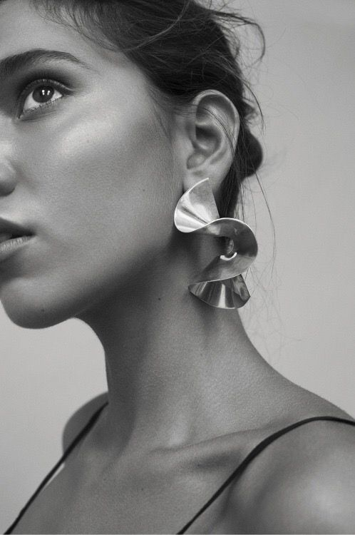 Minimal Geometric Statement Earrings