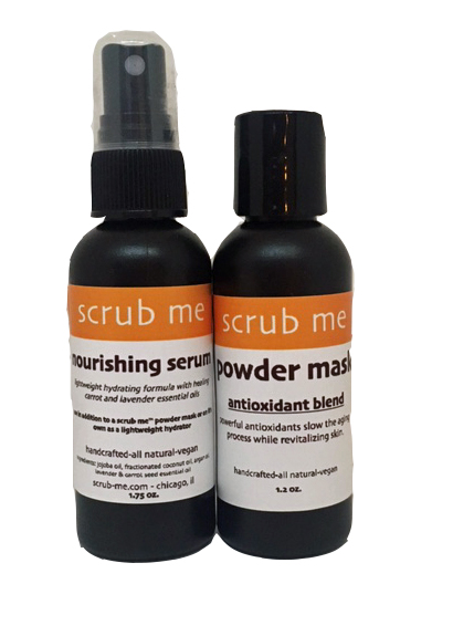 find the scrub me™ nourishing serum and antioxidant mask under 'other items'