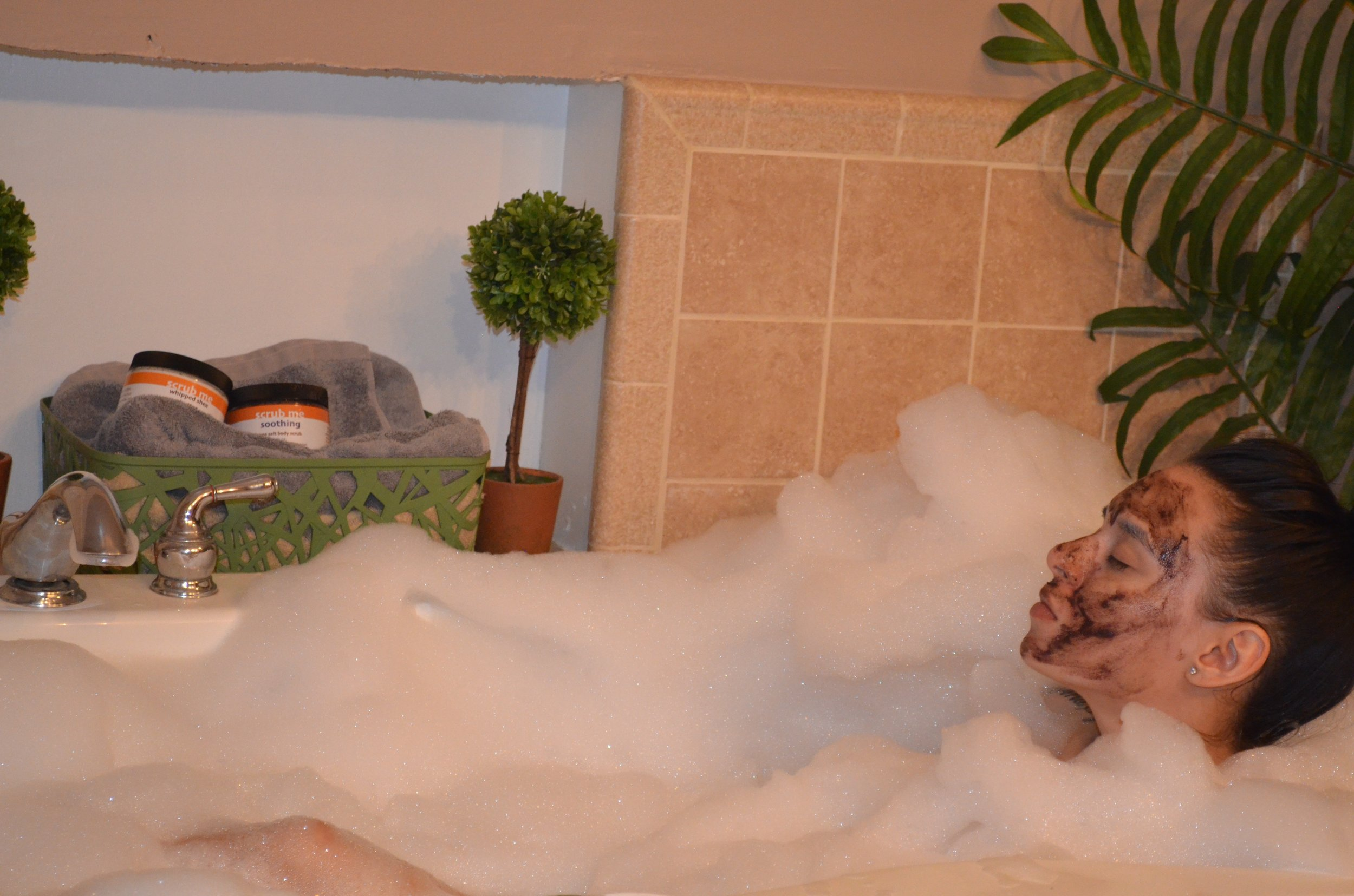 No better way to relax than with your favorite mask.