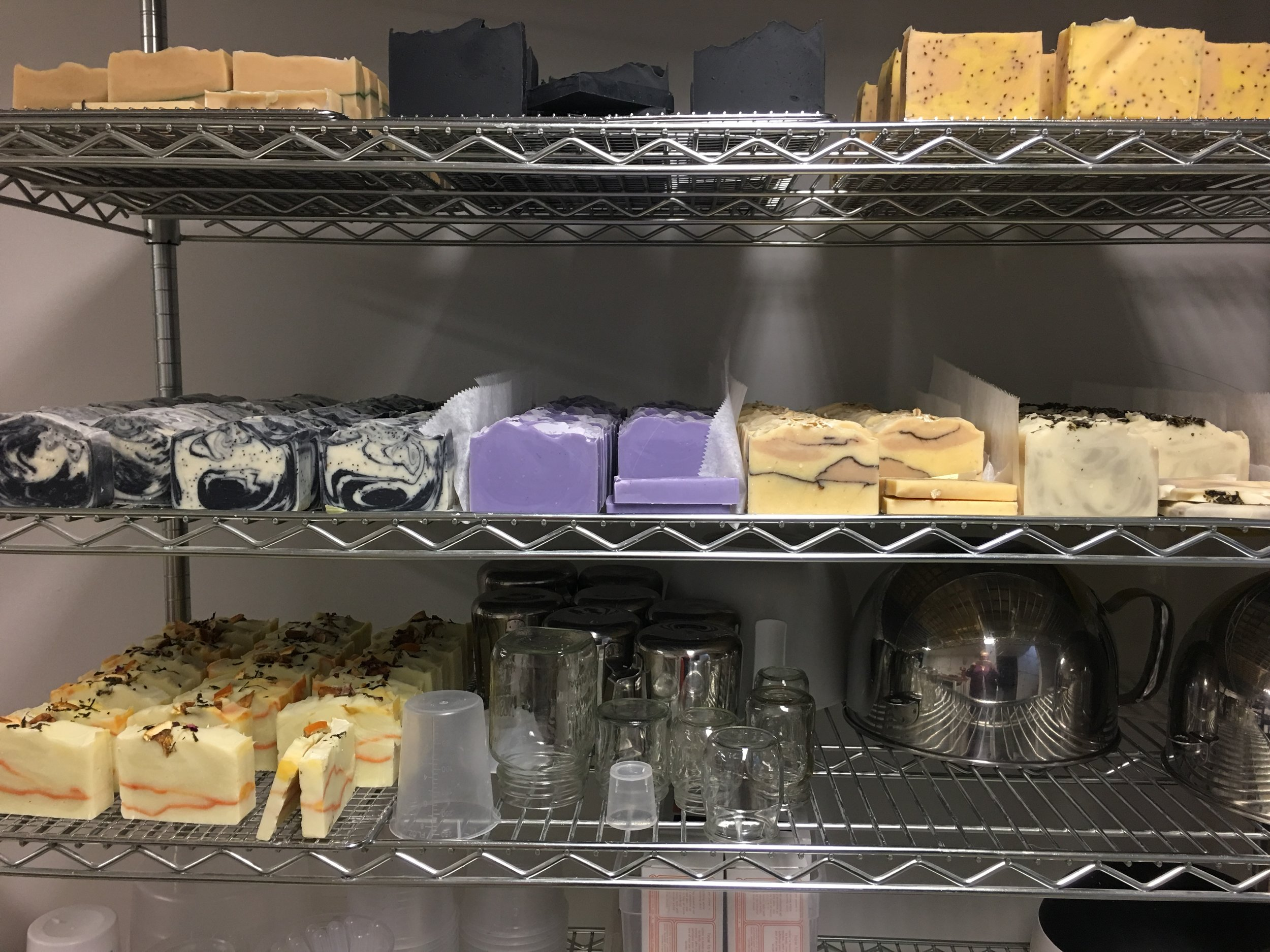 The curing rack.