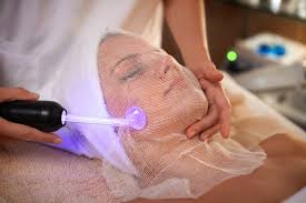 High frequency treatment. Can be used as a spot treatment or all over the face.