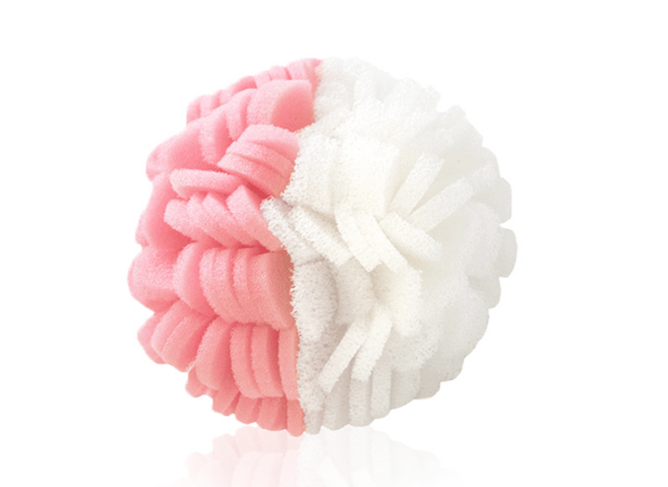 buff-puff or loofah - Using a buff-puff or a loofah is a more gentle way to exfoliate your skin in the shower. You can apply your cleanser of choice straight to your loofah or suds up your skin first and then scrub. This exfoliation method is great for sensitive skin and also someone that wants a low maintenance skin care routine.