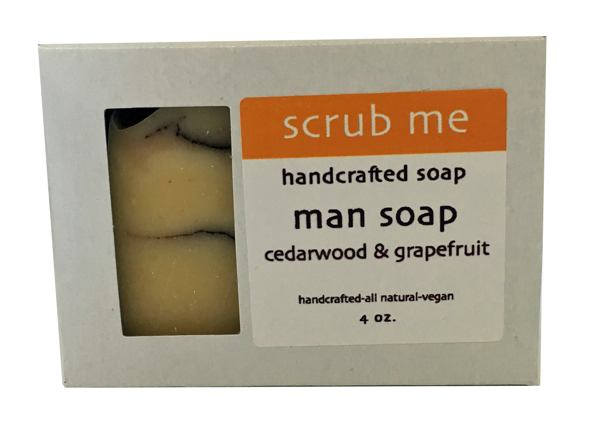 scrubbing soap - Bar soaps with built-in exfoliating ingredients are another scrubbing method for anyone who wants something quick and easy. Scrubbing soaps can contain ingredients like ground loofah, ground coffee, seeds, or salt. Just grab your bar, start cleansing, and you'll feel your exfoliating happening in the process. We suggest following up your shower with a body butter or oil to balance out this cleansing scrub.