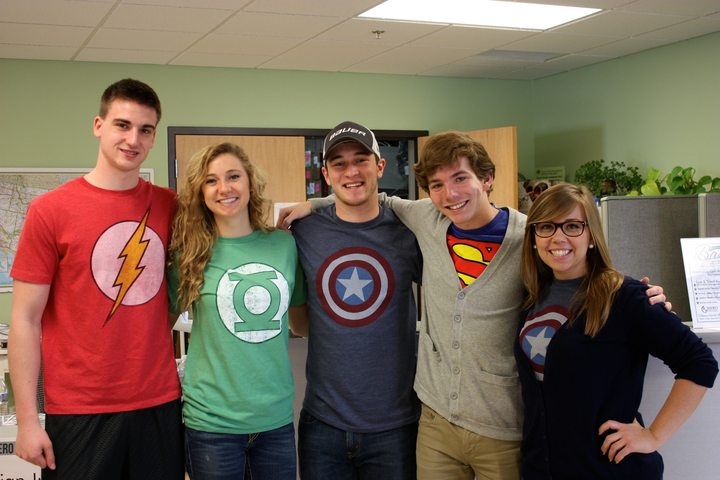 From Left to Right (Austin Roerick, Alana Kiel, Ben Walz, Austin Sandmeyer, Colette Bersie)