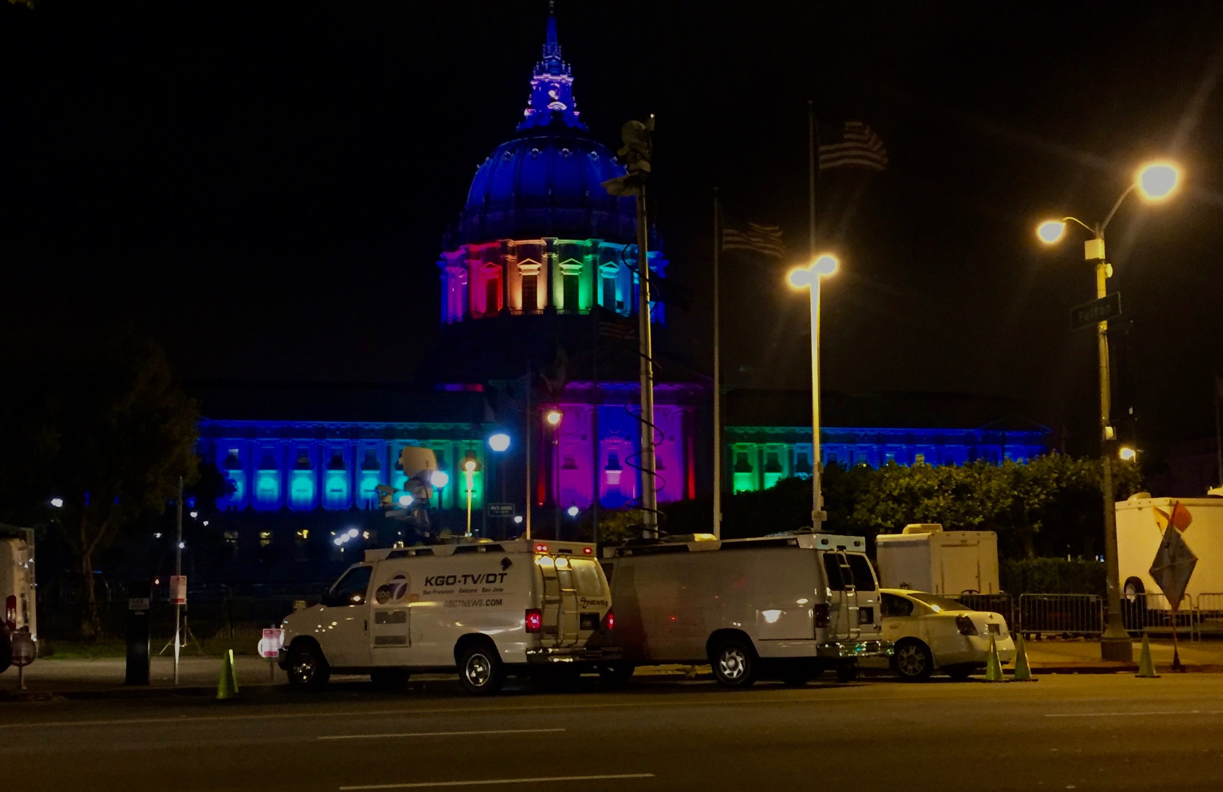 City Hall showing it's PRIDE
