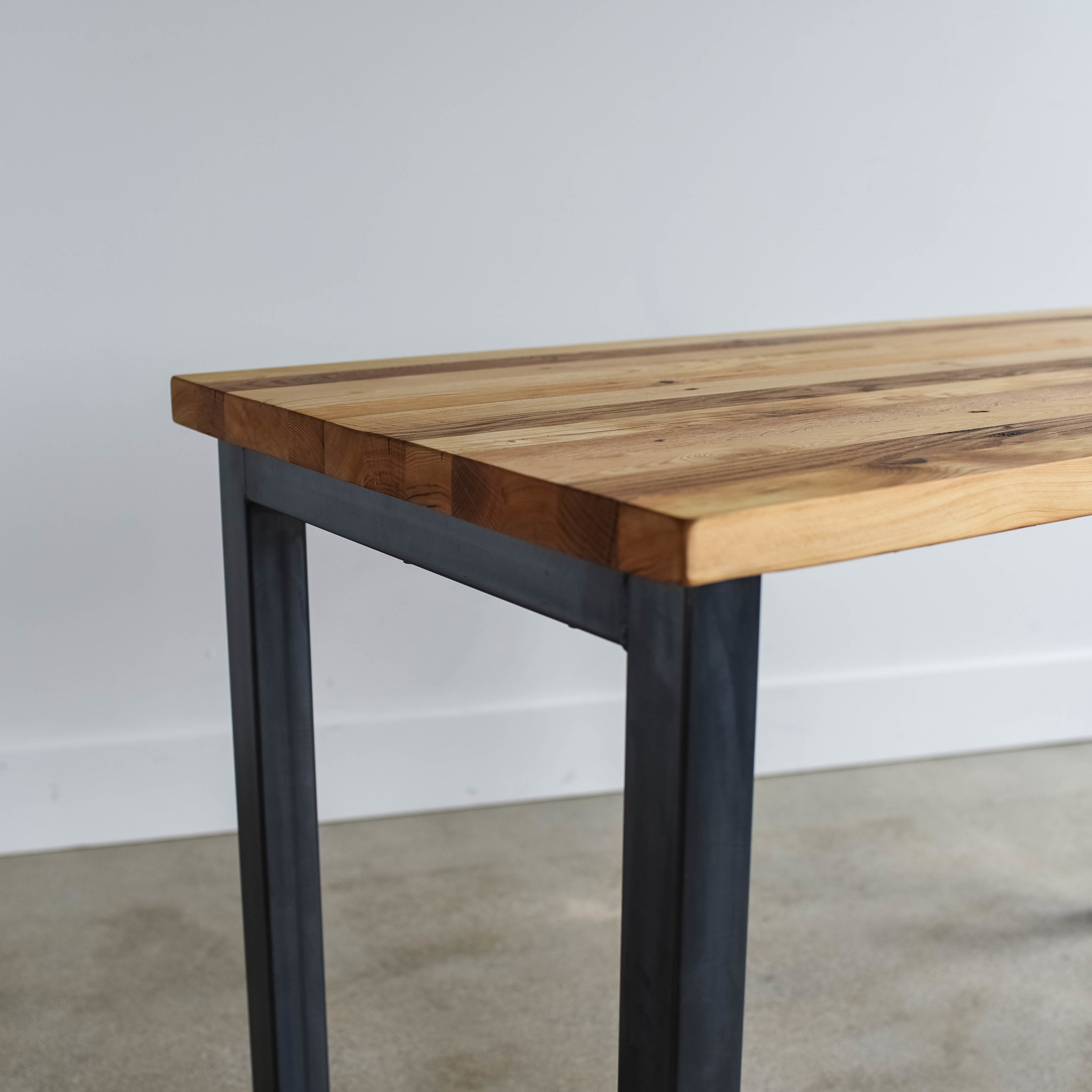 Butcher Block Reclaimed Wood Dining Table What We Make
