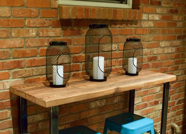Console Tables - Utilize one of our console tables as a pub table by adding bar stools beneath. I love seeing one piece of furniture be utilized two ways!