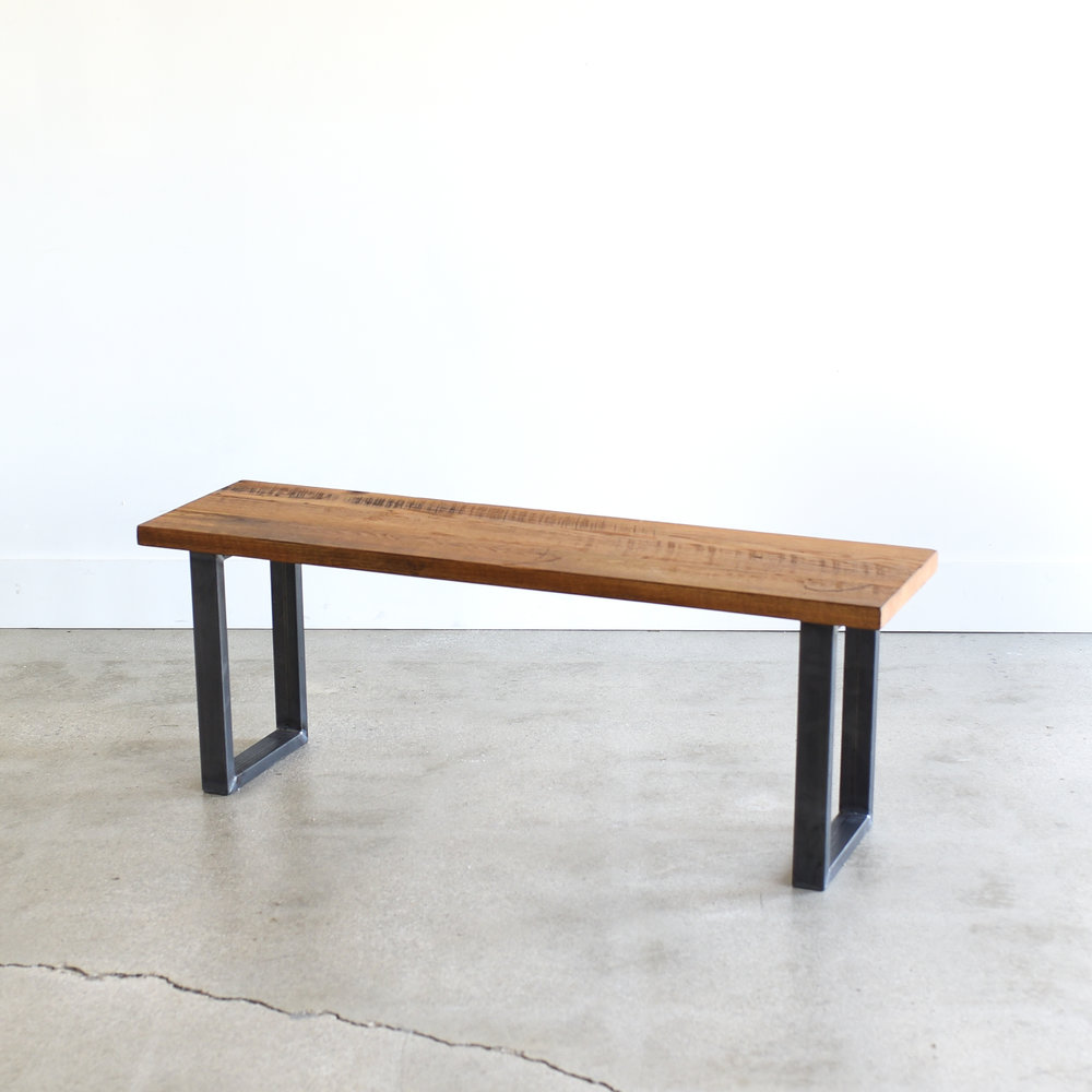 Coffee Table Bench Industrial Wood And Steel Bench TV Stand Metal Legs Entry Bench Dining Bench Wooden Bench 60 Furniture