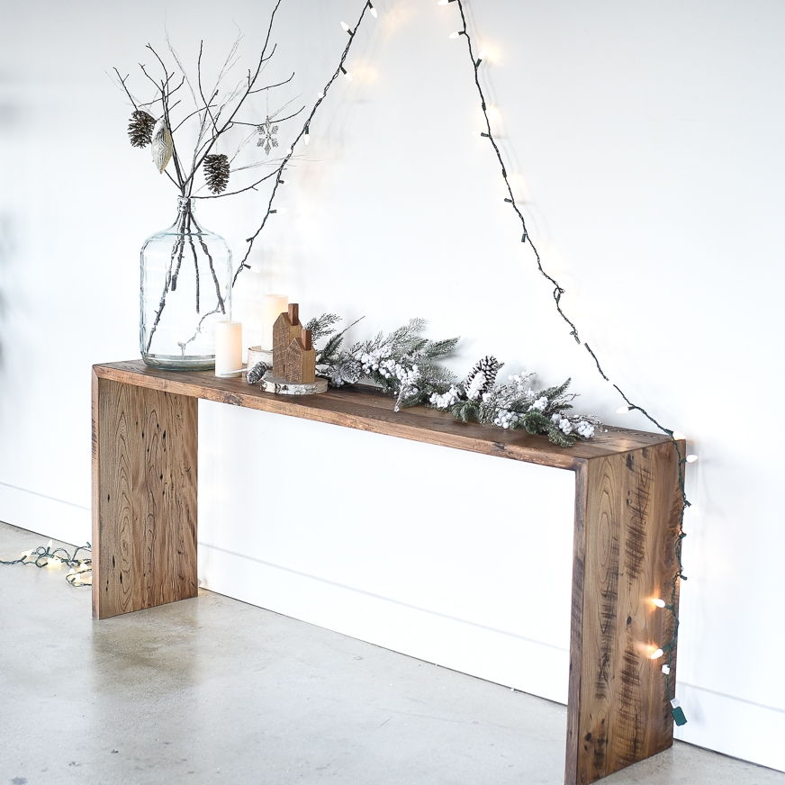 19. MODERN RECLAIMED CONSOLE TABLE