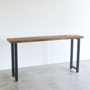 Console Table With H Shaped Metal Legs
