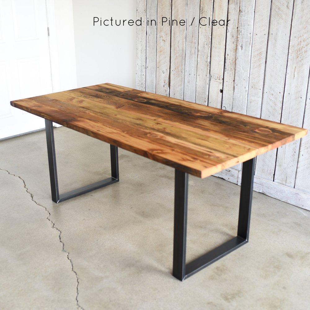 Industrial Modern Dining Table / U Shaped Metal Legs   WHAT WE MAKE