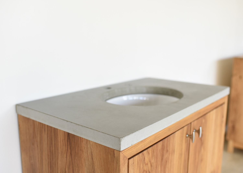 Concrete Vanity Top Single Oval Undermount Sink What We Make