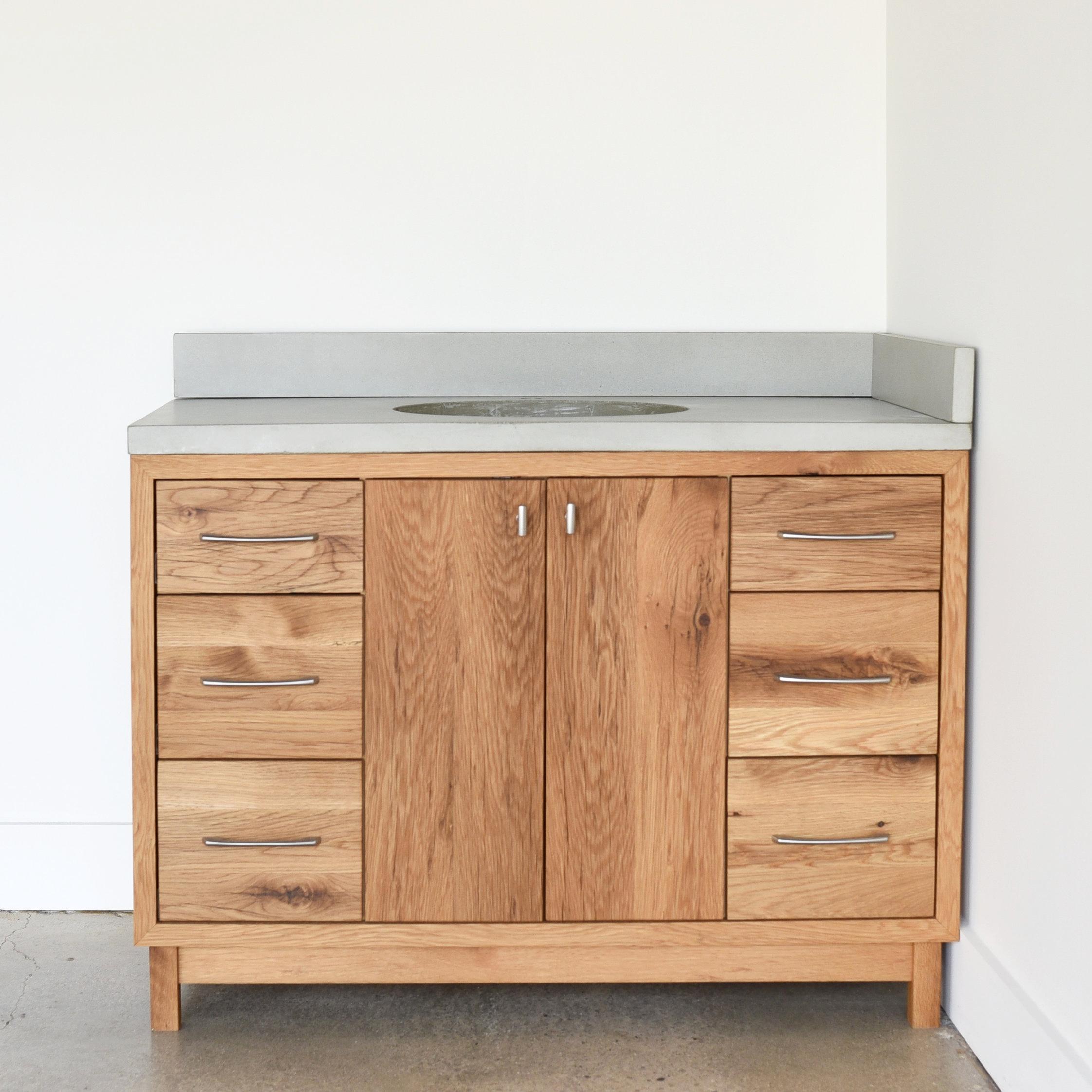 48 Modern Reclaimed Wood Vanity Single Sink What We Make