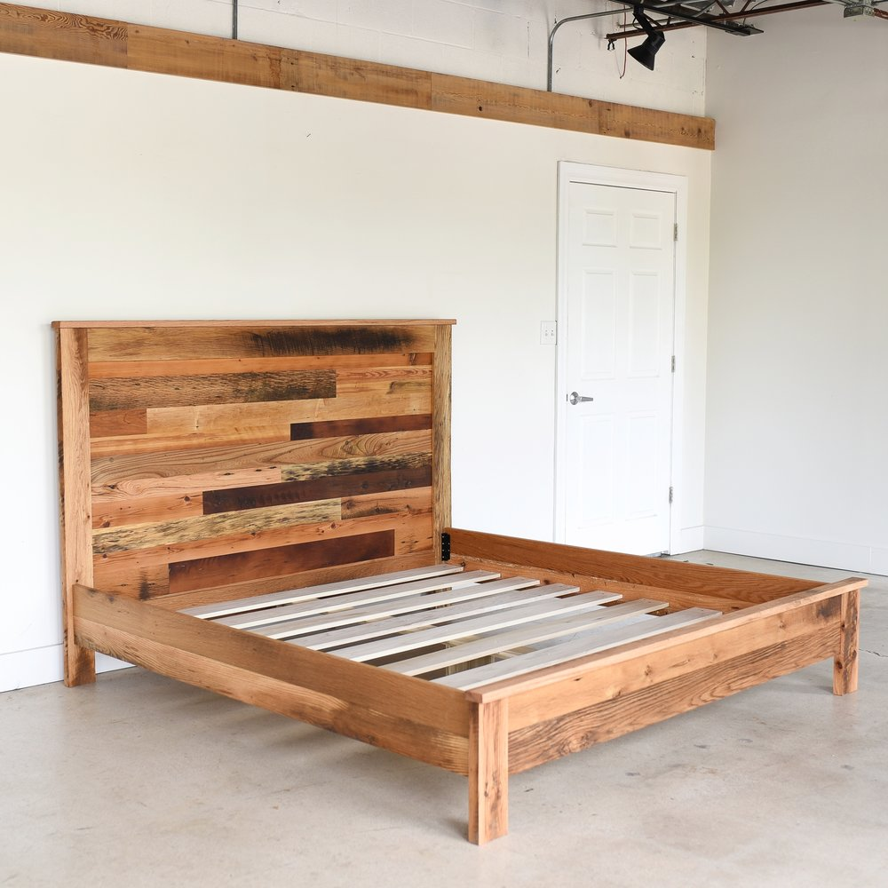 rustic reclaimed wood bed what we make