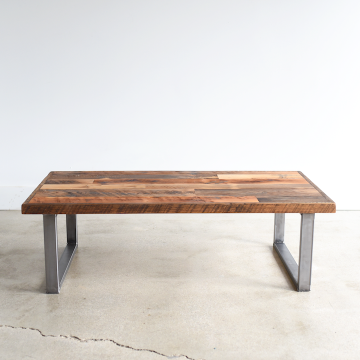Reclaimed Patchwork Wood Coffee Table, Affordable Reclaimed Wood Furniture