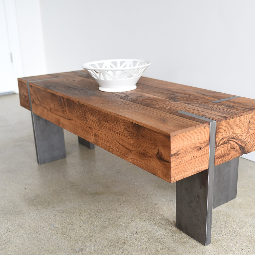 modern reclaimed wood coffee table what we make