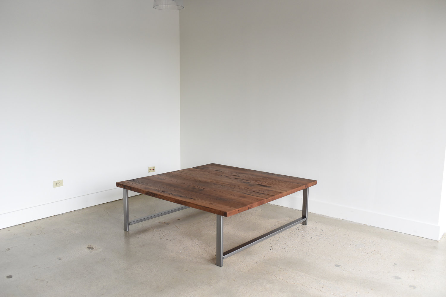 Square Reclaimed Wood Coffee Table In Stock What We Make