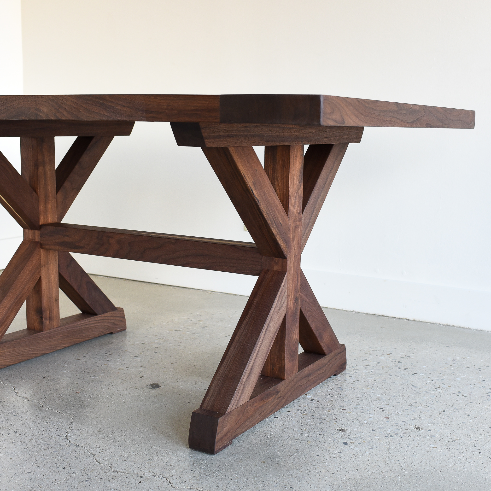 Walnut Trestle Dining Table What We Make