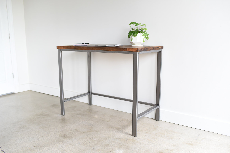 Reclaimed Wood Standing Desk What We Make