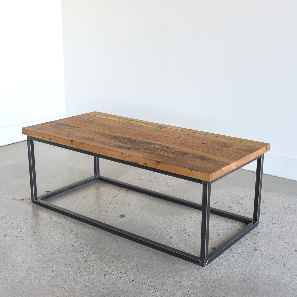 Reclaimed Wood Box Frame Coffee Table What We Make