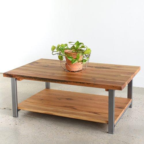 Industrial Reclaimed Wood Coffee Table Lower Shelf What We Make