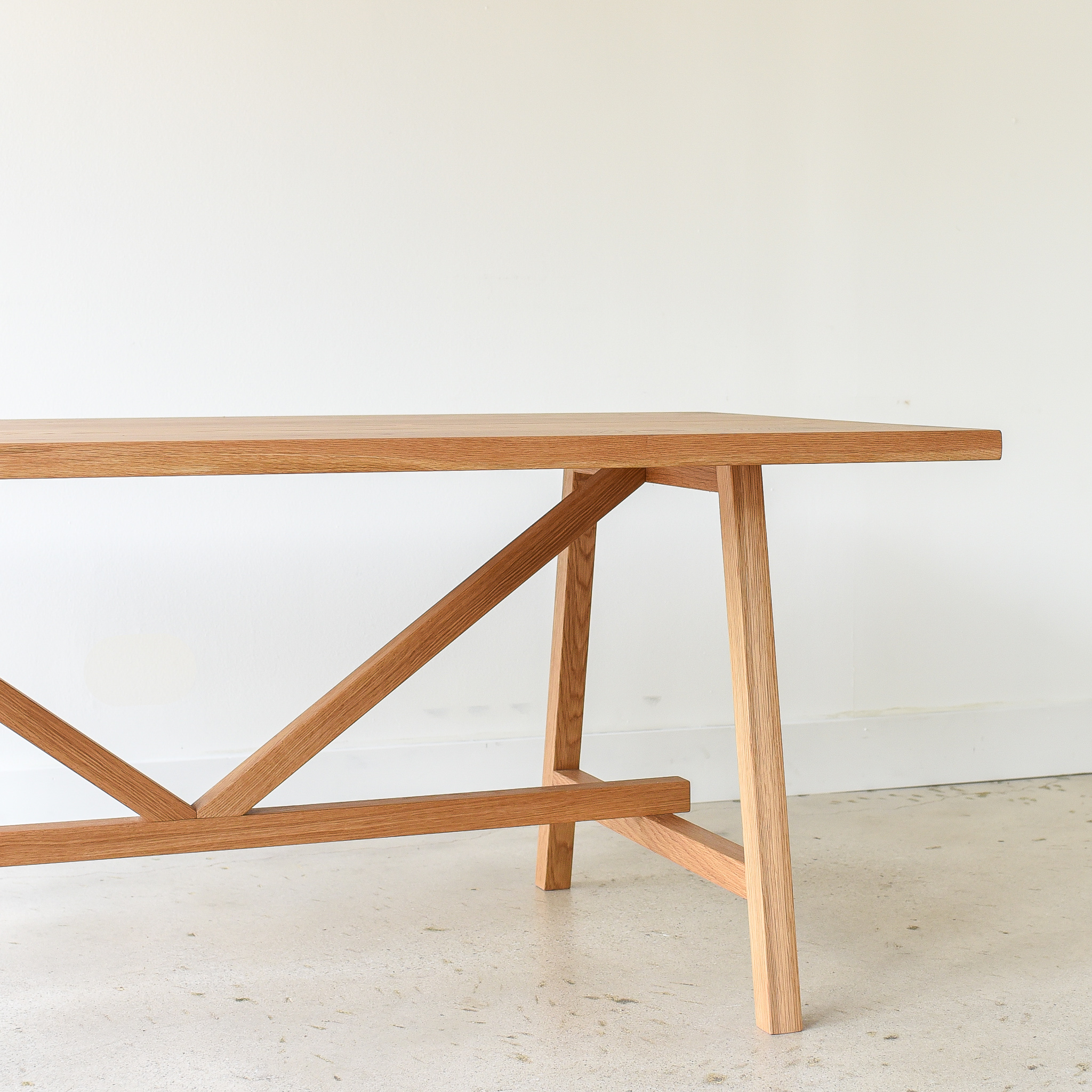 Modern Trestle Dining Table Butterfly Joinery What We Make